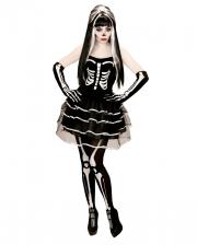 Skelett Minikleid mit Handschuhen