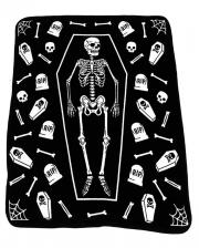 Skelett mit Grabsteinen Tagesdecke