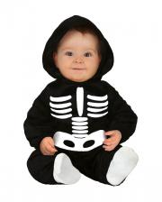 Skelett Plüsch Kostüm mit Kapuze für Kleinkinder