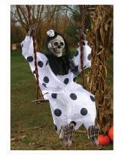 Skeleton Clown on the swing