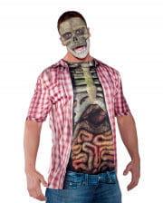 Skeletal torso shirt intestines
