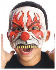 Smokey Horrorclown Kinder Halbmaske