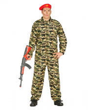 Soldier Costume Camouflage With Cap