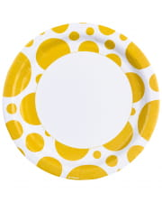 Summer Yellow Dots Paper Plate 8 Pcs.