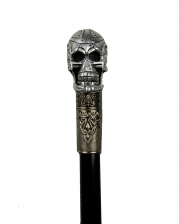 Walking Stick With Cyborg Skull Knob