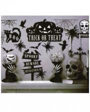 Spooky Halloween Wandsticker 16-teilig