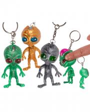 Squeeze Alien Keychain 1 Piece