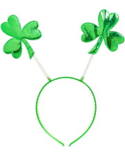 St. Patricks Day Headband With Shamrock
