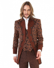 Steampunk Aristocrat Men Coat Brown