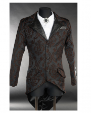 Steampunk Brocade Jacket With Dovetail