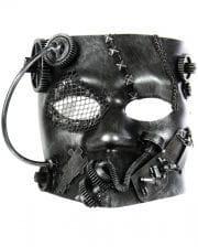 Steampunk Bauta Mask Silver