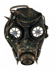 Steampunk Jet Pilot Halbmaske