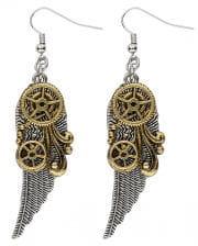 Steampunk Earrings With Wings