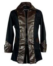 Steampunk Pirate Jacket Black-brown