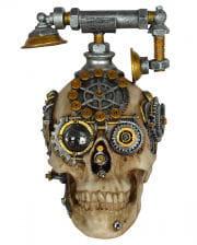 Steampunk Totenschädel mit Telefon