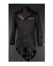 Steampunk Vintage Jacket With Dovetail