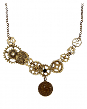 Steampunk Cogwheel Chain As Costume Accessory
