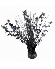 Stars Glitter Table Decoration Black
