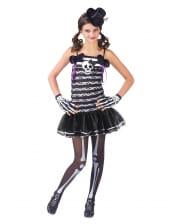 Sweet Skeleton Girl Kids Costume