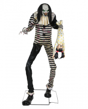 Huge Horror Clown With Child Animatronic