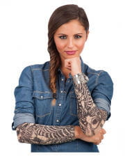 Tattoo sleeve with skeletal motif 2 pcs.
