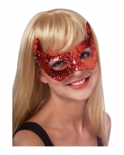Devils eye mask with sequins