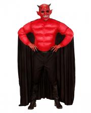 Teufel Muskel Shirt mit Umhang
