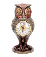 Tick Toot Steampunk Owl Grandfather Clock 27cm
