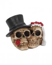 Forever Wedding Couple Skull Deco
