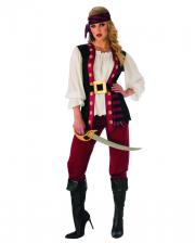 Tollkühne Piratin Kostüm mit Hose