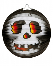 Totenkopf Halloween Papierlaterne 26cm