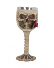 Skull Goblet With Rose