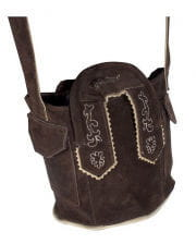 Costumes leather bag dark brown