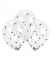 Transparent Latex Balloons With Spider Confetti