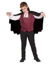 Vampire Umhang mit Weste für Kinder