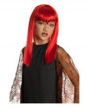 Red Glitter Vamp Children Wig