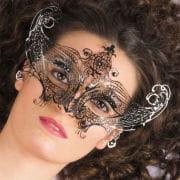 Venetian Metal Mask With Gemstones