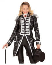 Venezianischer Damenfrack silber-schwarz