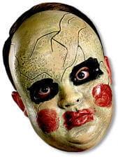 Creepy Doll Face Maske