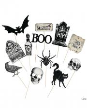 Vintage Halloween Photo Sticks 12 St.