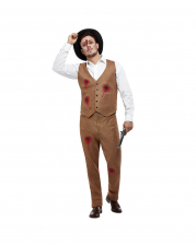 Clyde Zombie Gangster Men Costume