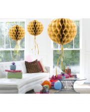 Honeycomb Ball Gold 30cm