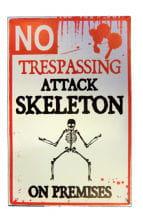 Warning Attackierendes skeleton