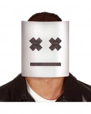 Weiße Marshmallow Maske
