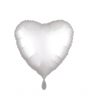 White Heart Foil Balloon Satin Optics