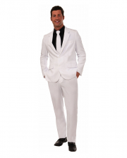 White Party Suit With Tie For Men