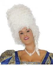 Weiße Barock Perücke