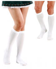 White Knee Socks Unisex Costume Accessories