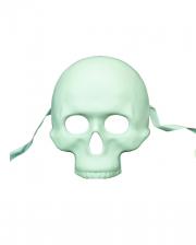 Weiße Totenschädel Halbmaske