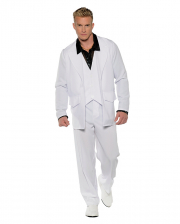 White 70s Men Costume Suit